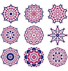 Geometric designs floral doodle elements vector