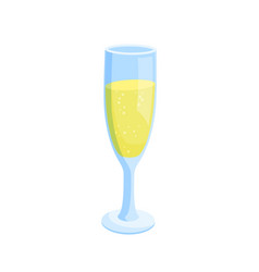 glass filled with drink icon vector image