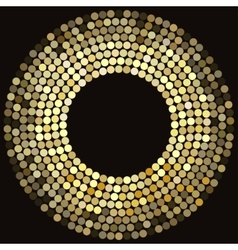 Golden disco lights frame vector image vector image