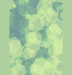 hexagonal semitransparent green shapes overlapping vector image