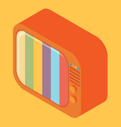 isometric retro tv vector image vector image