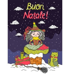 Italian santa claus - befana vector