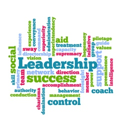 Leadership word tag cloud beckground vector