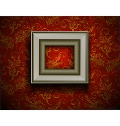 Picture frame on grunge wall vector image