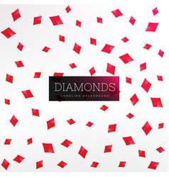 Playing card diamond shapes background vector