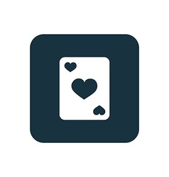 poker icon Rounded squares button vector image vector image