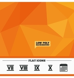 Roman numeral icons Number seven nine ten vector image vector image
