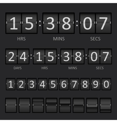 Scoreboard Countdown Timer vector image