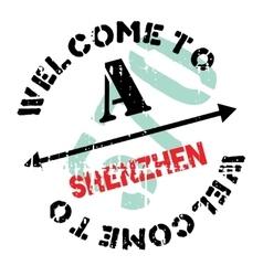 Shenzhen stamp rubber grunge vector