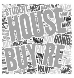 Should you buy a house as a student text vector
