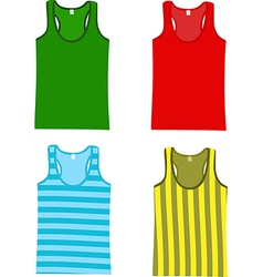 Sleeveless tops vector