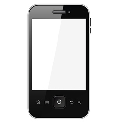 Smart phone with blank screen vector