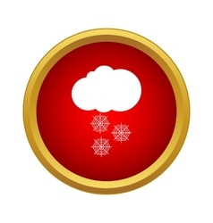 Snowfall icon simple style vector