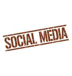 Social media stamp vector