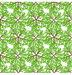 top view tree seamless pattern - nature seamless vector image vector image
