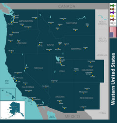 western united states vector image vector image
