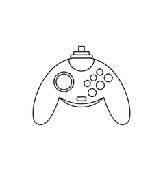 Gamepad icon outline style vector