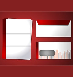 Corporate identity theme vector image