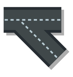 Turn road icon flat style vector