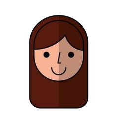 Cute woman avatar character vector
