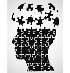 head puzzle vector image