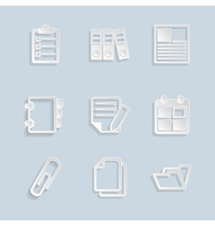 Paper document office icons vector