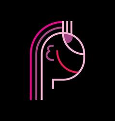 beauty face logo vector image