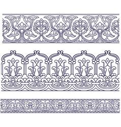 seamless spiral border vector image