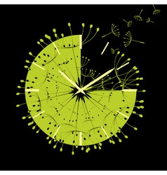 abstract time is flying vector image