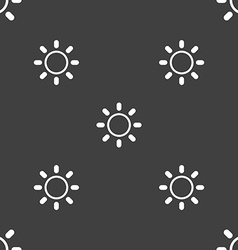 Brightness icon sign seamless pattern on a gray vector