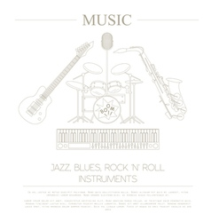 Musical instruments graphic templatejazz blues vector