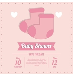 Baby shower design socks icon pink vector