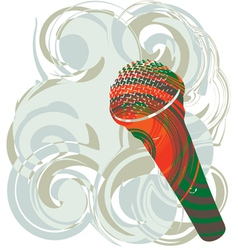 Abstract microphone vector image vector image