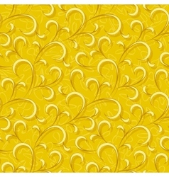 abstract yellow floral seamless background vector image