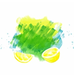 background with lemon vector image