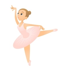 Ballerina with raised leg icon flat style vector image