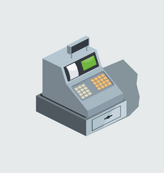 cash machine isometric vector image vector image