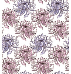 Chrysanthemum pattern vector image