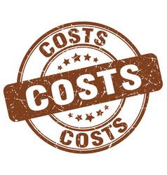 Costs brown grunge round vintage rubber stamp vector