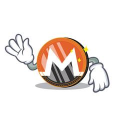 Crazy monero coin character cartoon vector