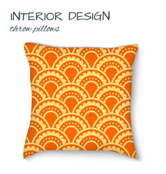 Design cushions home interior throw pillows vector