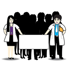 Doctors and text vector image vector image