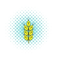 Ear of of wheat icon comics style vector