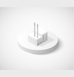 Factory hangar of isometric city icon dimensional vector