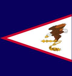 Flag american samoa islands flat style vector