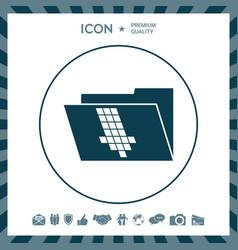 Folder down arrow icon vector