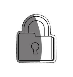 Folder padlock documents security vector
