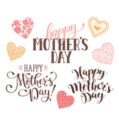 Happy mothers day phrases vector