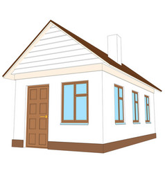 house with brown door vector image