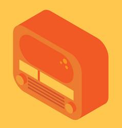 Isometric retro radio vector